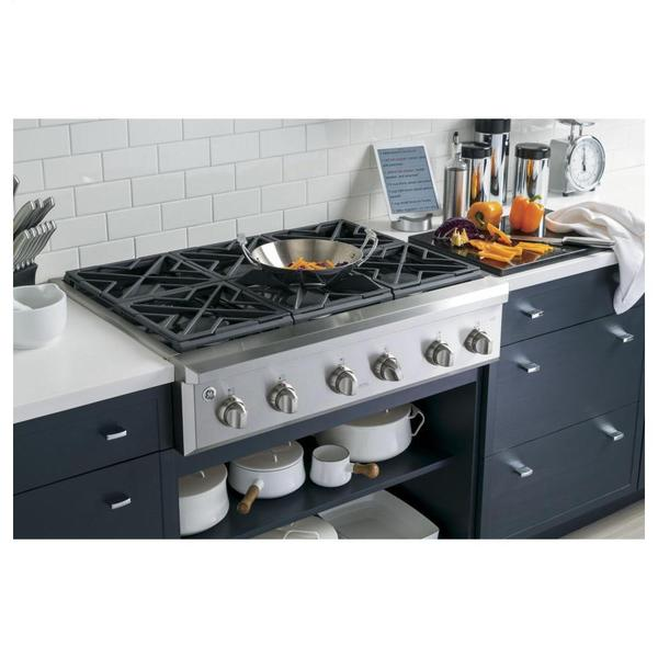 36 Inch Cooktops ~ Shop ge cafe series inch gas rangetop with burners