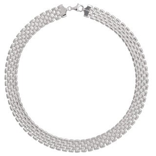 Karizia Italian Sterling Silver Panther Chain Necklace