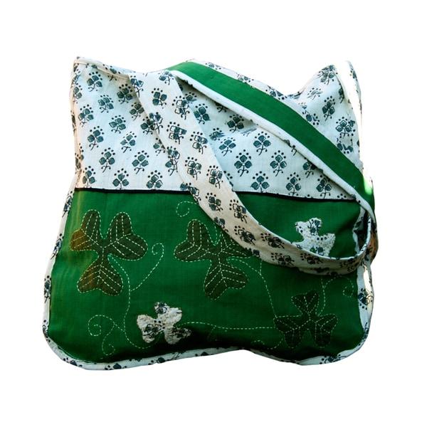 Shamrock Hand-embroidered Shoulder Bag (India)