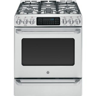 GE Cafe Series 30-inch Free-Standing Dual-Fuel Range with Baking Drawer