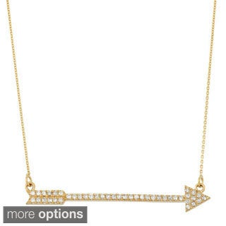 14k Gold 1/4ct Diamond Arrow Trapeze Pendant (G-H, I1)