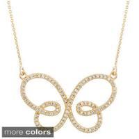 14k Gold 1/2ct TDW Diamond Infinity Butterfly Pendant