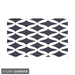 E by Design Navy Blue/ Rust/ Purple Geometric Print Throw Blanket