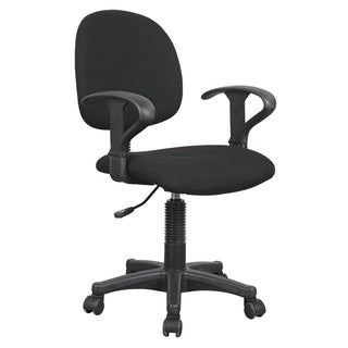 Remi Black Fabric Pneumatic Lift Office Chair
