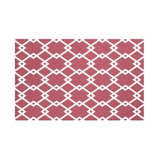 E by Design Light Blue/ Royal Blue/ Green/ Purple/ Rust Geometric Print Throw Blanket (5 options available)