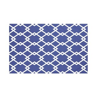 E by Design Light Blue/ Royal Blue/ Green/ Purple/ Rust Geometric Print Throw Blanket (5 options available)
