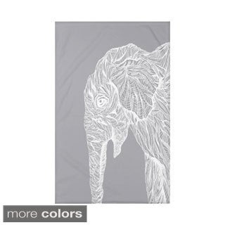 E by Design Grey/ Off-White/ Black Animal Print Throw Blanket