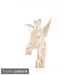 E by Design Green/ Aqua Animal Print Throw Blanket