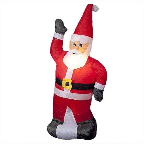 4-foot Illuminated Inflatable Standing Santa. Opens flyout.