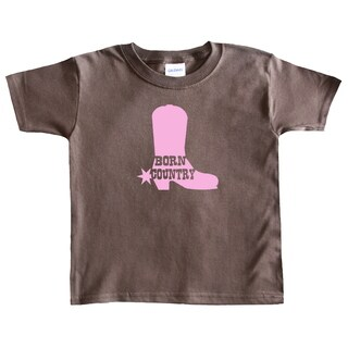 Rocket Bug Girls 'Born Country' Cowgirl Boot T-shirt (3 options available)