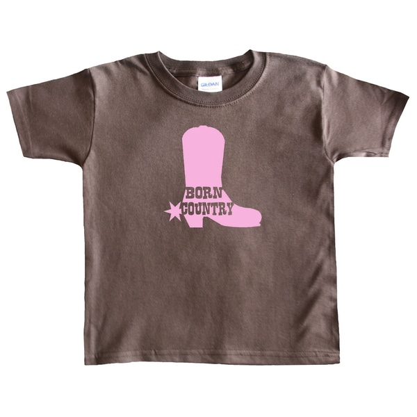 Rocket Bug Girls 'Born Country' Cowgirl Boot T-shirt
