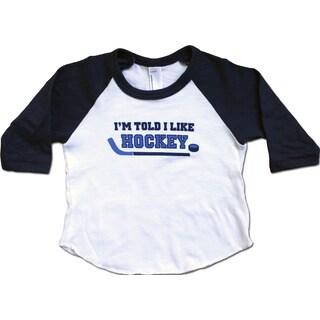 Rocket Bug 'I'm Told I Like Hockey' Raglan Shirt
