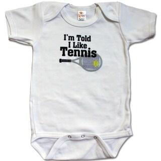 Rocket Bug 'I'm Told I Like Tennis' Baby Bodysuit