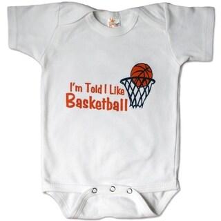 Rocket Bug 'I'm Told I Like Basketball' Baby Bodysuit