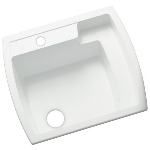Sterling Latitude 22 inch x 25 inch Vikrell White Self-Rimming Utility Sink