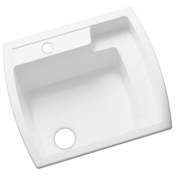 Sterling Latitude 22 Inch X 25 Inch Vikrell White Self Rimming Utility Sink