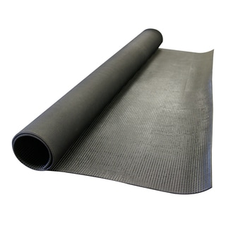 "Rubber-Cal ""Super-Grip Scraper"" Rubber Runner Mats - 3/16 Thick x 4ft Wide - Black - 6 Assorted Lengths"