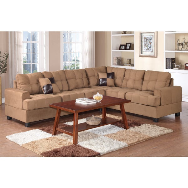 Shop Zenica 2 Pieces Sectional Sofa Set Covered In Plush