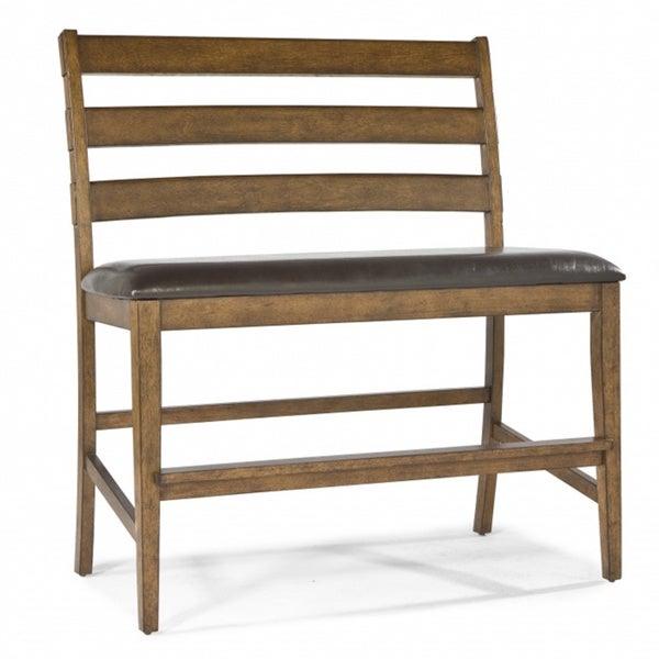 Santa Clara Bonded Leather Ladderback Dining Bench