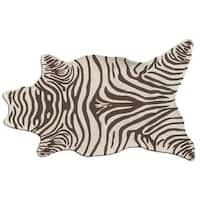 Zebra Brown Shaped Area Rug