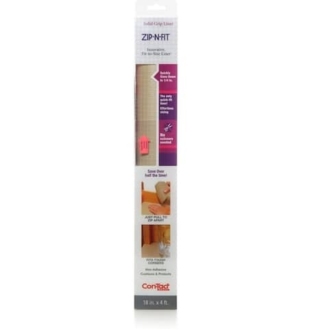Con-Tact Brand Zip-N-Fit Solid Grip Non-Adhesive Non-Slip Shelf and Drawer Liner, 6 Pack - N/A