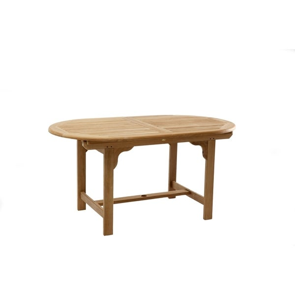 Shop Teak Outdoor Extension Dining Table Free Shipping Today - Outdoor teak extension dining table
