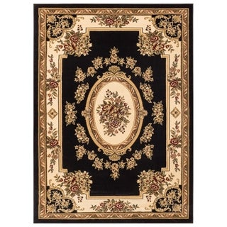 Well Woven Vanguard French Aubusson European Floral Medallion Thick Plush Area Rug (3'11 x 5'3)