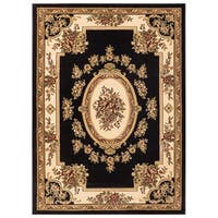 Well Woven Vanguard French Aubusson European Floral Medallion Thick Plush Area Rug - 3'11 x 5'3