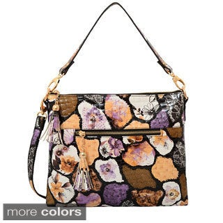 Mellow World Evelyn Abstract Pebble Pattern Crossbody