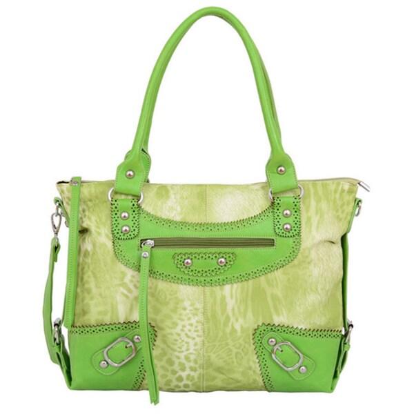 Mellow World Safari Green Tote Handbag - Free Shipping Today ...