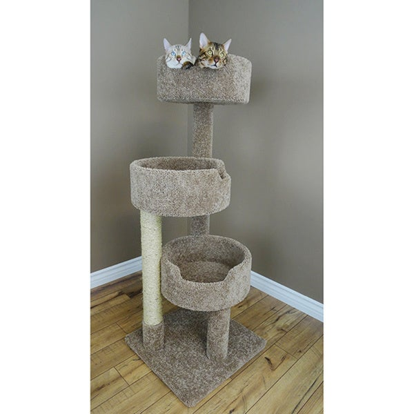 New Cat Condos Deluxe Kitty Pad Cat Tree Free Shipping