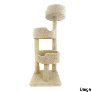 New Cat Condos Deluxe Kitty Pad Cat Tree (Option: 110038-Beige)