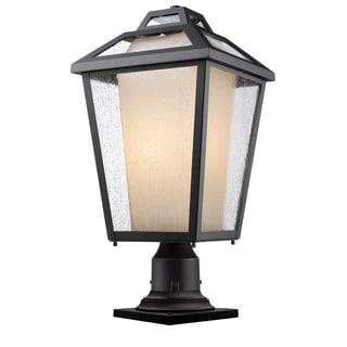 Z-Lite Memphis 1-Light Black Pier Mount Light