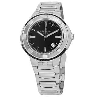 Charriol Men's CE443B.930.104 'Celtic' Black Dial Stainless Steel Swiss Quartz Watch|https://ak1.ostkcdn.com/images/products/9966409/P17118868.jpg?impolicy=medium