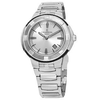 Charriol Men's CE443B.930.103 'Celtic' Silver Dial Stainless Steel Swiss Quartz Watch
