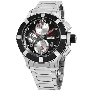 Charriol Men's C46AB.930.002 'Celtica' Black Dial Stainless Steel Chronograph Automatic Watch