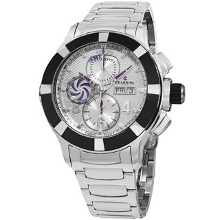 Charriol Men's C46AB.930.001 'Celtica' Silver Dial Stainless Steel Chronograph Automatic Watch