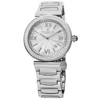 Charriol Men's ALSD.930.101 'Alexandre' Silver Dial Stainless Steel Diamond Swiss Quartz Watch|https://ak1.ostkcdn.com/images/products/9966415/P17118873.jpg?impolicy=medium