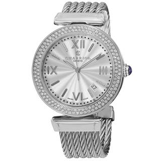 Charriol Men's ALSD.51.101 'Alexandre' Silver Dial Stainless Steel Diamond Quartz Watch|https://ak1.ostkcdn.com/images/products/9966416/P17118874.jpg?impolicy=medium