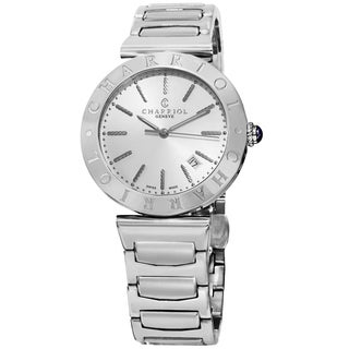 Charriol Men's ALS.930.102 'Alexandre' Silver Dial Stainless Steel Swiss Quartz Watch