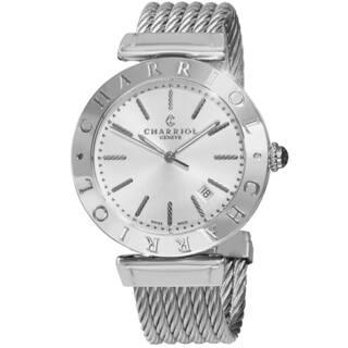 Charriol Men's ALS.51.102 'Alexandre' Silver Dial Stainless Steel Bracelet Swiss Quartz Watch|https://ak1.ostkcdn.com/images/products/9966418/P17118876.jpg?impolicy=medium