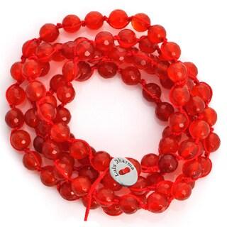 Alchemy Jewelry Macrame Carnelian Wrap Bracelet