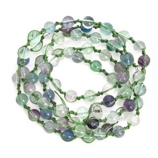 Alchemy Jewelry Macrame Fluorite Bead Wrap Bracelet