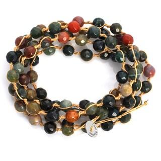 Alchemy Jewelry Macrame Oceal Jasper Wrap Bracelet