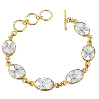 Alchemy Jewelry White Quartz Oval Gemstone Bracelet