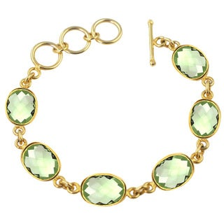 Alchemy Jewelry Gold Overlay Green Quartz Bracelet