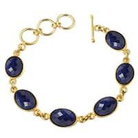 Alchemy Jewelry Oval Sapphire Gemstone Bracelet
