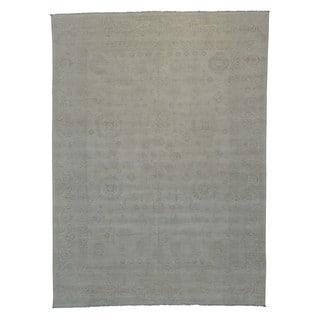 Handmade Milk Wash Samarkand Wool Oriental Area Rug (8'8 x 12')