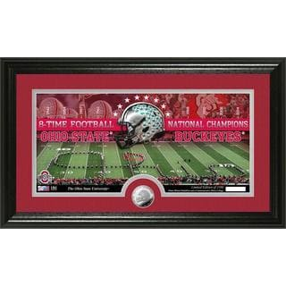 Ohio State University 8-time Football National Champions Minted Coin Panoramic Photo Mint