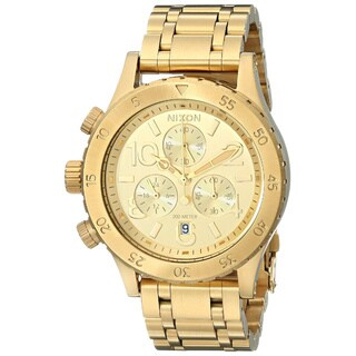 Nixon Women's Goldtone Stainless Steel Chronograph Quartz Bracelet Watch